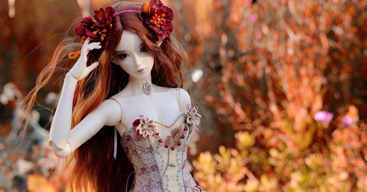 кукла, осень, манекен