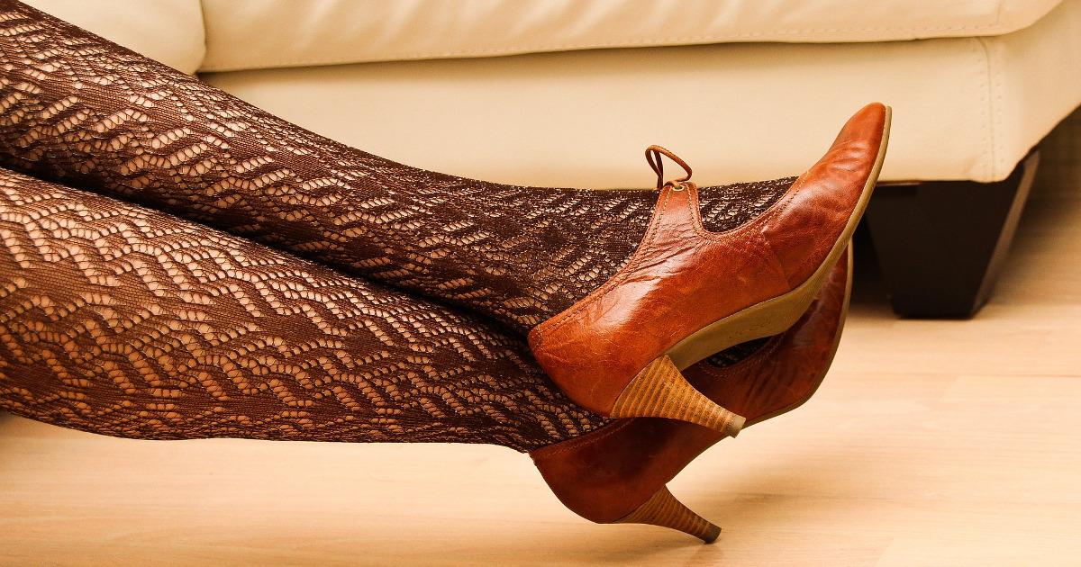 каблуки, чулки