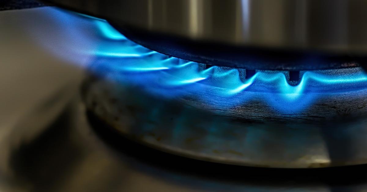пламя, газ, конфорка