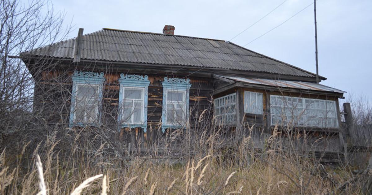 Хмелин, деревня, брошенный дом