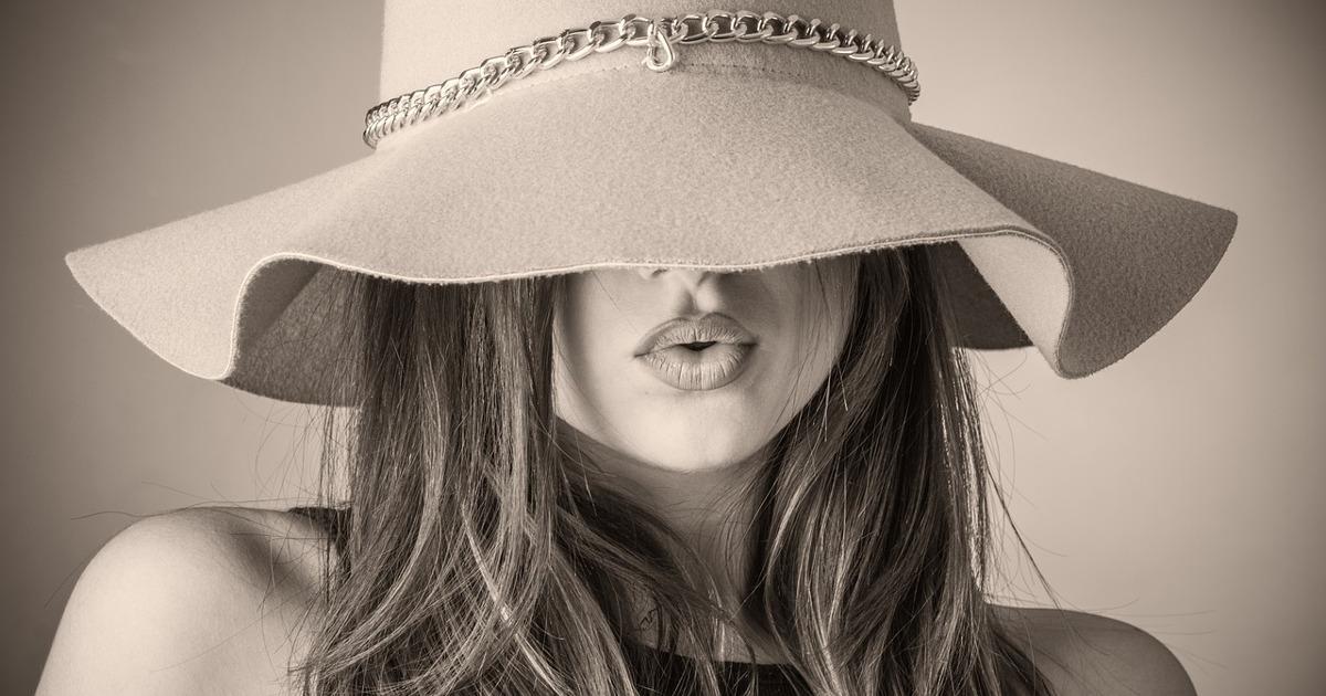 Картинки женщин в шляпах с закрытыми лицами, днем рождения