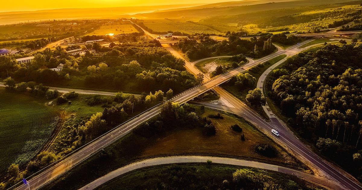 Молдова, вид с высоты птичьего полёта