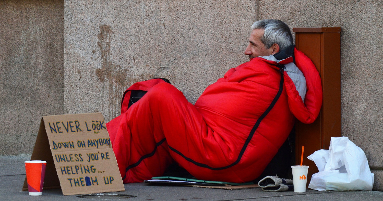 бездомный в США