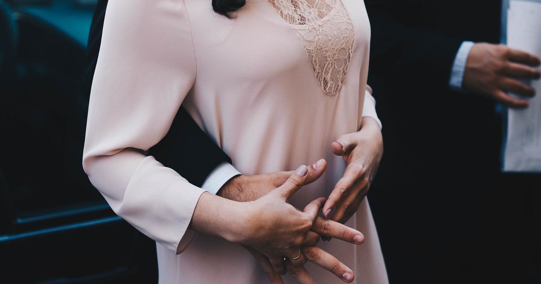 пара, объятия, замужем