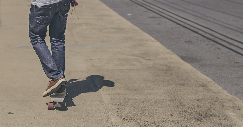 скейтборд, подросток