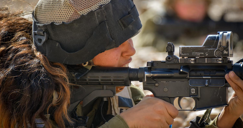 Военнослужащая из Армии обороны Израиля