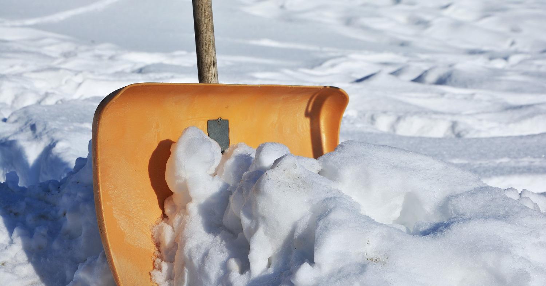 Снегоуборочная лопата