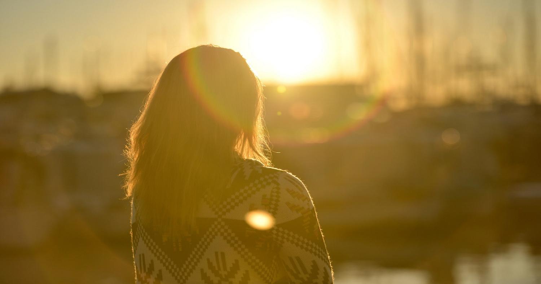Девушка, закат