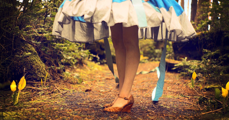 Девушка в красивом платье